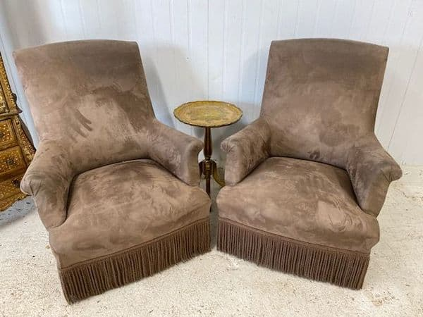 Pair of Lovely Antique  French Chairs -  bc197